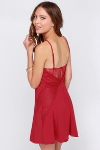 Pretty Please Wine Red Lace Dress at Lulus.com!