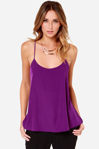 For Sienna High Fidelity Purple Tank Top at Lulus.com!