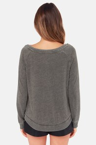 Billabong Fly By Po Grey Sweater at Lulus.com!