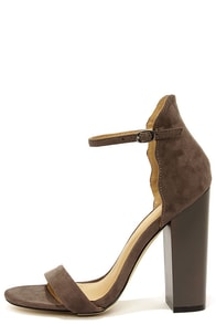 Chinese Laundry Sea Breeze Storm Grey Ankle Strap Heels