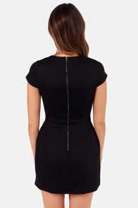 Slit or Miss Black Dress at Lulus.com!