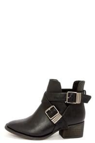 Bronco 11 Black Cutout Ankle Boots at Lulus.com!