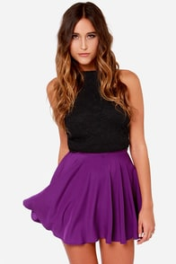 For Sienna Pure Talent Purple Flared Mini Skirt at Lulus.com!