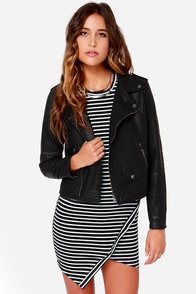For Sienna Life on the Edge Black Vegan Leather Jacket at Lulus.com!