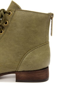 Georgia 43 Military Green Lace-Up Ankle Boots at Lulus.com!