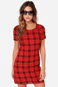 Queen of Scots Black and Red Plaid Dress at Lulus.com!