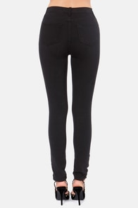 High Times Distressed Black Skinny Jeans at Lulus.com!