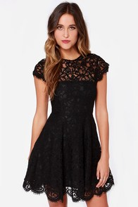 BB Dakota Rylin Black Lace Dress at Lulus.com!