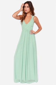 LULUS Exclusive Strike a Minerva Mint Green Maxi Dress at Lulus.com!