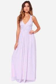 LULUS Exclusive Strike a Minerva Lavender Maxi Dress at Lulus.com!