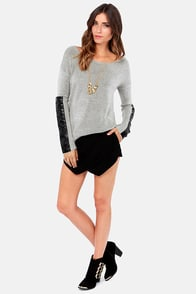 Knit's a Pleasure Black and Grey Sweater at Lulus.com!