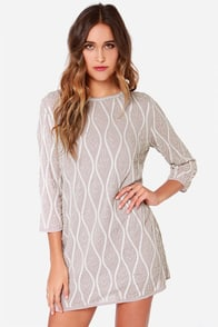 Electric Waves Taupe and Ivory Sequin Dress at Lulus.com!