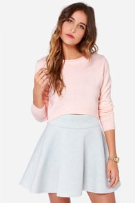 As If Peach Cropped Sweater at Lulus.com!