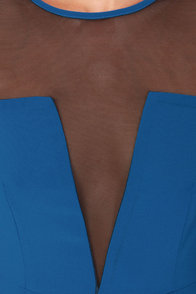 Sheers to You Cutout Blue Maxi Dress at Lulus.com!