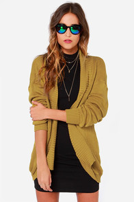 Ladakh Playground Knit Golden Yellow Cardigan Sweater at Lulus.com!
