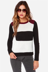 Olive & Oak Little Leaguer Color Block Sweater at Lulus.com!