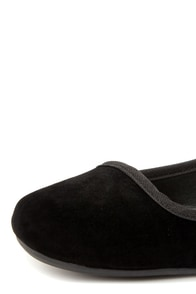 Bamboo Qabil 01 Black Square Toe Ballet Flats at Lulus.com!