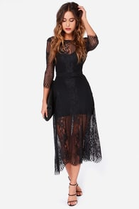 For Love & Lemons San Marcos Black Lace Maxi Dress at Lulus.com!