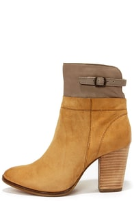 Seychelle's Fascinate Tan and Grey Suede Leather Booties at Lulus.com!