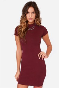 LULUS Exclusive Show Off Burgundy Dress at Lulus.com!