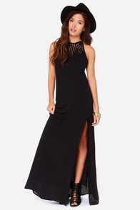 O'Neill Rickie Black Maxi Dress at Lulus.com!