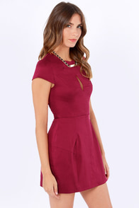 Slit or Miss Burgundy Dress at Lulus.com!