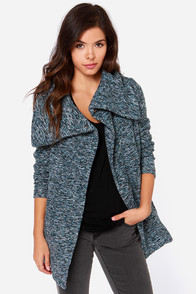 Jack by BB Dakota Renner Blue Multi Coat at Lulus.com!