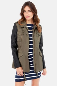 Far and Wild Black and Olive Green Safari Jacket at Lulus.com!