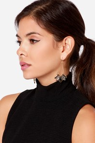 Shine This Sway Grey Rhinestone Earrings at Lulus.com!