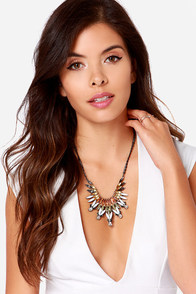 Fire Bird Yellow Rhinestone Statement Necklace at Lulus.com!