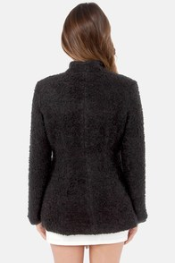 Broadway Intermission Black Coat at Lulus.com!