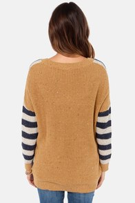 Roxy Big Deal Striped Sweater at Lulus.com!