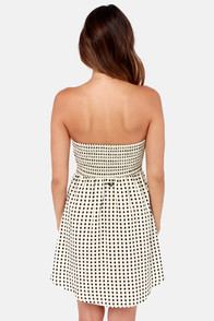 Roxy Bustin Out Black and Cream Polka Dot Dress at Lulus.com!