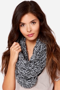 Popular on YouTube Black and Ivory Infinity Scarf at Lulus.com!