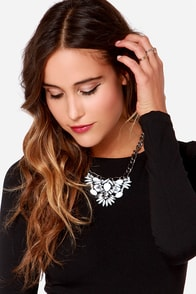 Frost and Found White Rhinestone Statement Necklace at Lulus.com!