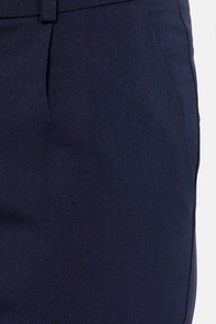 Call Your Cuff Cropped Navy Blue Pants at Lulus.com!