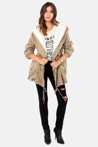 Fur Get About It Taupe Coat at Lulus.com!