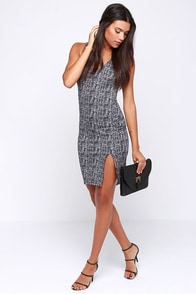 Newsworthy Exploits Black and White Print Dress at Lulus.com!