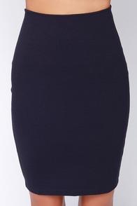 Dark Blue Pencil Skirts