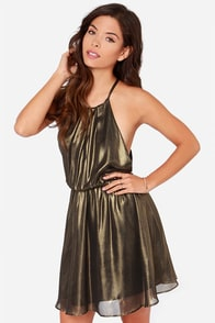 Treasure Huntress Bronze Dress at Lulus.com!