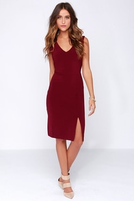 Debutante Dreams Burgundy Midi Dress at Lulus.com!