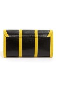 Clutch of Class Yellow and Black Clutch at Lulus.com!