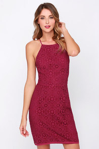 One That I Want Burgundy Lace Dress at Lulus.com!