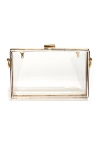 Lucite the Way Clear Lucite Clutch at Lulus.com!