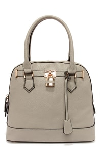 Lock-Smitten Grey Handbag at Lulus.com!