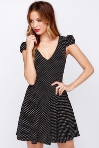 Faithfull the Brand Sunday Daze Black Polka Dot Dress at Lulus.com!