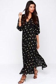 Faithfull the Brand Bonnie & Clyde Black Print Maxi Dress at Lulus.com!