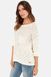 Roxy Good Day Sunshine Ivory Sweater at Lulus.com!