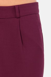 Call Your Cuff Cropped Burgundy Pants at Lulus.com!