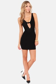 Oh My Posh Backless Black Dress at Lulus.com!